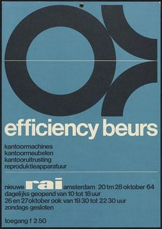 Wim Crouwel efficiency beurs poster #graphic design #wim crouwel #cover
