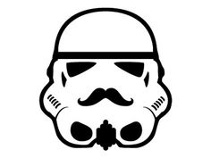 Dribbble - This isn't the mustache you were looking for... by Rogie #stormtrooper #wars #star #mustache