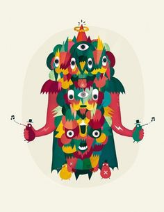 Sami Viljanto - Master of Nuggets - Sound Creatures #nuggets #sami #illustrations #viljanto #master #sound #creature