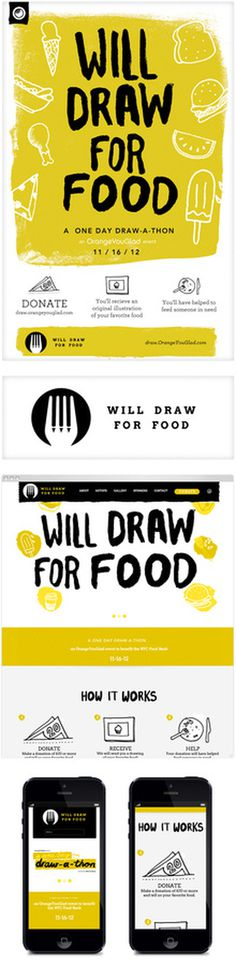 WDFF #illustration #logo #interactive #food #web #navigation #fork #hand #drawn