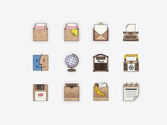 Handmade Icons (Pack of 12) #icon #draw #craft #made #hand