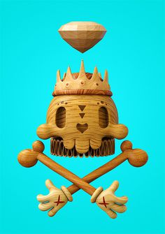 Dead Wood: 3D Illustrations by Teodoru Badiu | Inspiration Grid | Design Inspiration #dead #3d #illustrations #wood