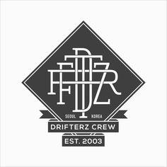 Drifterz Crew #logo #monogram #mark #branding #brandidentity #hiphop #typography