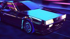 Retrowave on Behance #lights #retro #graphic #futuristic #cars #neon