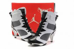Nike Air Jordan VI 6 Heels White/Black #fashion