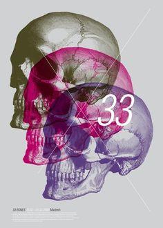 gva studio - typo/graphic posters #skull #gva #poster #typography