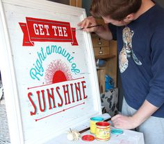 Hand Painted and Engraved Lettering By Tobias Hall