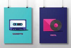 Set of Cassette & Vinyl Posters