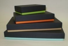 Ready Made folding boxes in modern colours, ideal as confectionery boxes #flat #packaging #color #box #accent