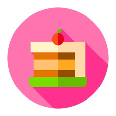 See more icon inspiration related to birthday and party, food and restaurant, baker, cake slice, dessert, bakery, slice, sweet, sugar, cake and food on Flaticon.
