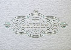 Allan Peters #letterpress #invitation