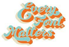 font-matters #calligraphy #lettering #fresh #brush #type