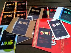 grat cards on the Behance Network #recycled #overlay #cards