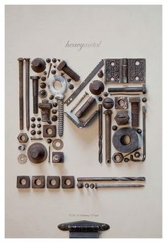 Tom Davie | 2011 tipográficas Posters #scrap #nutsbolts #type #metal #typography