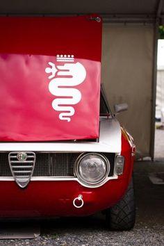 #vehicle #alfaromeo # car # red # logo #sport