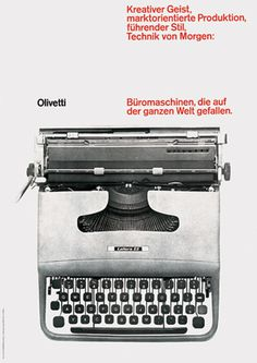 Ernst Hiestand — Olivetti Poster