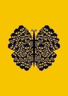 Kelebek #butterfly #skull