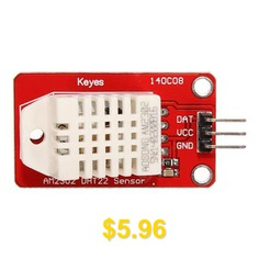AM2302 #DHT22 #Temperature #and #Humidity #Sensor #Module #for #Arduino #SCM #Digital #Two-way #Single #Bus #5V #- #RED