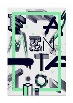 Frag.men.ta.tion on Behance #blankhiss #fragmentation #poster #type #typography