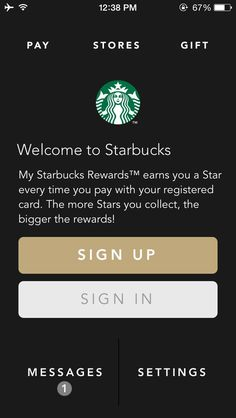 Starbucks #iphone #ui