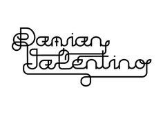 Damian Valentino by Jheryll #font #tekst #white #jheryll #graphicdesign #black #logo #typography