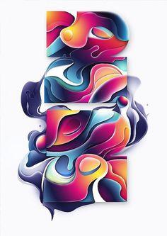 Digital Illustration by Rik Oostenbroek #abstract #illustration #colorful #shapes