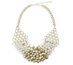 Send the Trend Segmented Goldtone Bib #jewelry #necklace