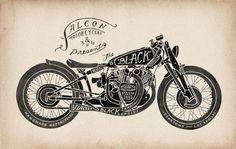STUDIO #caleb #motorcyle #illustration #everitt