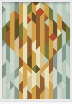 grain edit · Christopher Gray #perspective #color #shapes #cubism #mosaic #tile