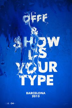 Typeverything.comOFFF #type #distorted #water