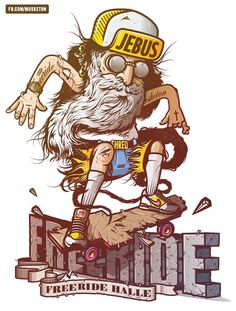 JEBUS Freeride #digital #design #art #vector