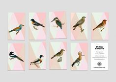 lovely stationery larsson furniture 1 #business card #bird #stationery