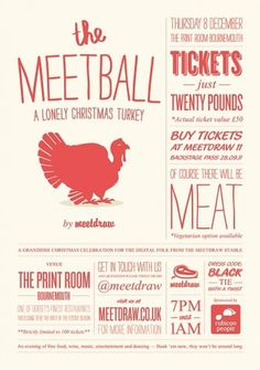 Absurd #turkey #christmas #poster #logo #typography