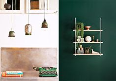 green home accessories #interior #design #decor #deco #decoration