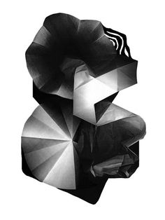 les graphiquants | Tumblr #geometry #abstract #paper #black