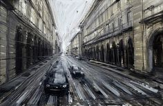 Dramatically Blurred Oil Paintings by Valerio DOspina