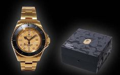 Bamford Watch Department Creates Custom Rolex For BAPE #BAPE #Bamford #Rolex
