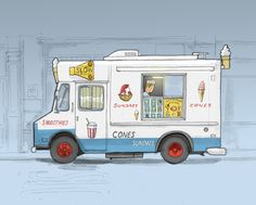 New York Ice Cream is the best #cream #illustration #york #ice #new