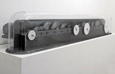 L'Horloge d'une vie de travail, Julien Berthier #glass #clock #gears #steel