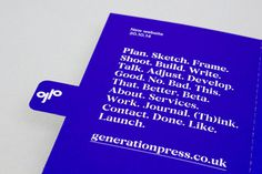 Generation Press – Direct Mail — Build #print #typography