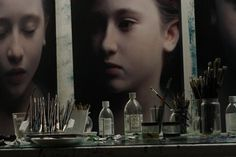 Gottfried Helnwein | WORKS | Mixed Media on Canvas | studio #painting #helnwein #studio #art