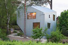 Sculptural and AffordablePrefab Home in Sweden #prefab #sweden #architecture #house