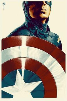 Exclusive: See Mondo's Captain America Character Poster for The Avengers | Underwire | Wired.com #screenprint #captain #mondo #america #comics