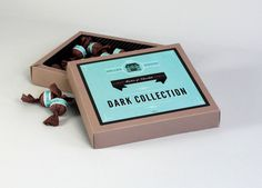 Hallen House Chocolates Merren Spink #packaging #chocolate #blue