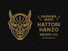 Dribbble - Hanzo Demon by Mitch Bartlett #hattori #bill #hanzo #devil #illustration #demon #kill #gold