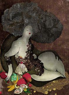 Katalogue #illustration #fruit #woman