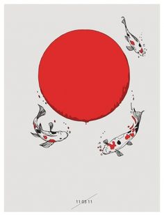 huebucket (Koi and Sun I will donate 100% of my profits of...) #sun #koi #japan #tsunami