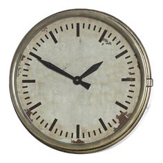 Egerton Pewter Metal Wall Clock, 44 cm D
