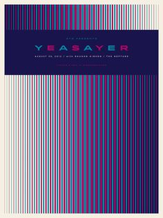 Yeasayer #screen #print #pattern #linear