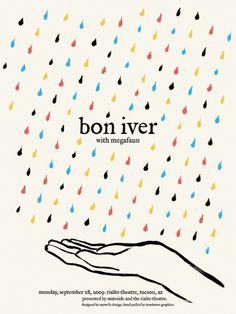 GigPosters.com Bon Iver Megafaun #bon #musci #iver #poster